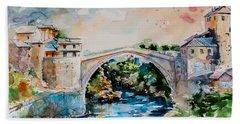 Mostar Bridge Beach Towel