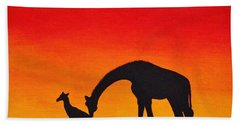 Beach Towel featuring the painting Mother Africa 2 by Michael Cross