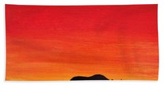 Beach Towel featuring the painting Mother Africa 5 by Michael Cross