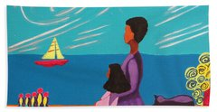Mother And Daughter Beach Towel by Anita Lewis