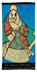 Mother Mary And Baby Jesus Beach Towel