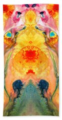 Mother Nature - Abstract Goddess Art By Sharon Cummings Beach Towel