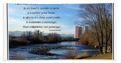 Beach Towel featuring the photograph Mother Natures Canvas by Bobbee Rickard