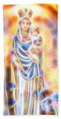 Mother Of Light Beach Sheet