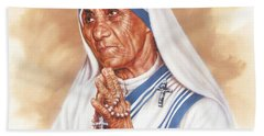 Mother Teresa Beach Towel