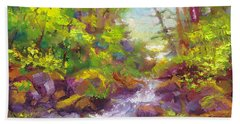 Mother's Day Oasis - Woodland River Beach Towel