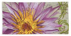 Moulin Floral 1 Beach Towel