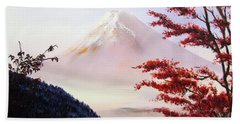 Mount Fuji Beach Towel