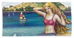 Mount Maunganui Beach Mermaid 160313 Beach Towel by Selena Boron