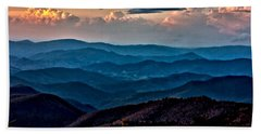 Beach Towel featuring the photograph Mount Mitchell Sunset by John Haldane