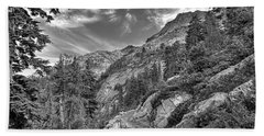 Mount Pilchuck Black And White Beach Towel