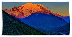 Mount Rainier Alpenglow Beach Sheet