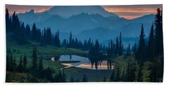 Mount Rainier Layers Beach Towel