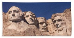 Mount Rushmore American Presidents Beach Sheet