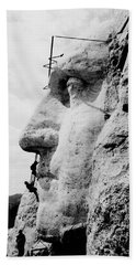 Mount Rushmore Construction Photo Beach Towel by War Is Hell Store
