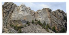 Mount Rushmore In South Dakota Beach Sheet