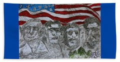 Mount Rushmore Beach Sheet by Kathy Marrs Chandler