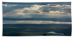 Mount Susitna Beach Sheet by Andrew Matwijec