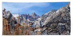Mount Whitney - California Beach Sheet by Glenn McCarthy Art and Photography