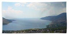 Mountain And Sea View In Greece Beach Sheet