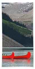 Mountain Canoes Beach Towel