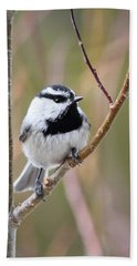 Mountain Chickadee Beach Towel