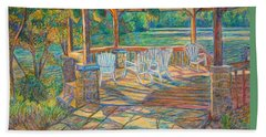 Mountain Lake Shadows Beach Towel