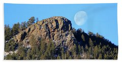 Mountain Moonset Beach Towel