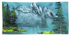 Mountain Retreat Beach Towel