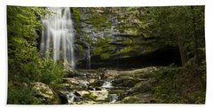 Mountain Stream Falls Beach Towel
