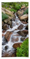Beach Towel featuring the photograph Mountain Stream by Ronda Kimbrow