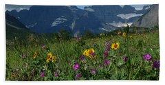 Mountain Wildflowers Beach Towel by Alan Socolik