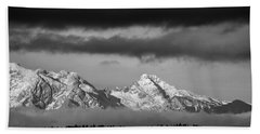 Mountains And Clouds Beach Towel