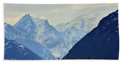 Mountains Near Matanuska Glacier Beach Towel