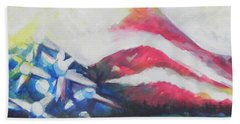 Mountains Of Freedom Two Beach Towel