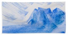 Mountains Tasmania Beach Sheet by Elvira Ingram