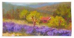 Mountainside Lavender   Beach Towel