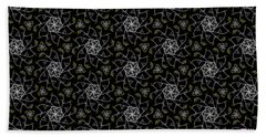 Beach Towel featuring the digital art Mourning Weave by Elizabeth McTaggart