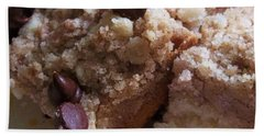 Mouthwatering Crumb Cake Beach Towel by Ellen Levinson