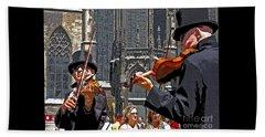 Mozart In Masquerade Beach Towel by Ann Horn