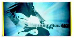 Mr Chuck Berry Blueberry Hill Style Edited Beach Towel by Kelly Awad