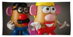 Mrs. Potato Head Beach Sheet by Bradley R Youngberg