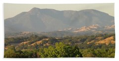 Beach Towel featuring the photograph Mt. Cali by Shawn Marlow
