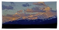 Mt Elbert Sunrise Beach Towel by Jeremy Rhoades