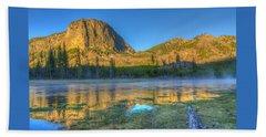 Mt. Hayes Alpine Glow Yellowstone National Park Beach Towel