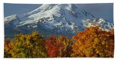 1m5117-mt. Hood In Autumn Beach Sheet