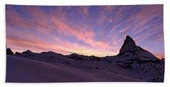 Mt Matterhorn At Sunset, Riffelberg Beach Towel