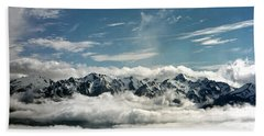 Beach Towel featuring the photograph Mt Olympus by Greg Reed