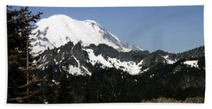 Mt Rainer From Wa-410 Beach Towel