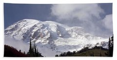 Beach Towel featuring the photograph Mt Rainier  by Greg Reed